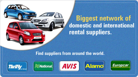 Biggest network of domestic and international rental suppliers